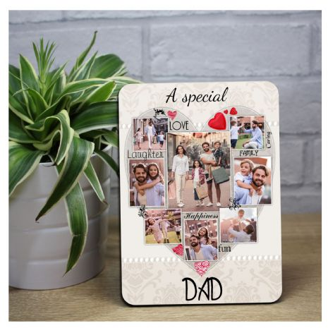 Personalised Special DAD Word Picture Art Wood Photo Frame Panel F51 Fathers Day Birthday Gift